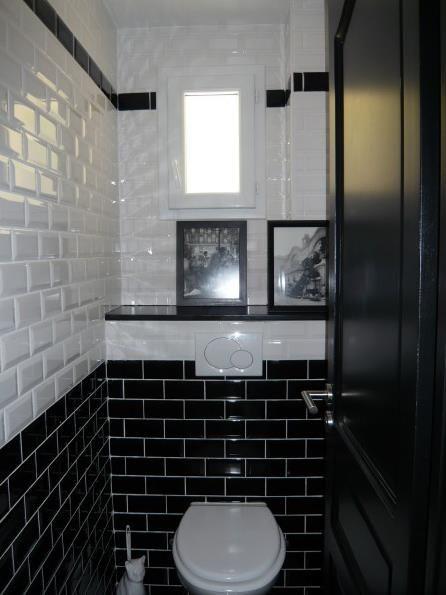 Carrelage wc noir