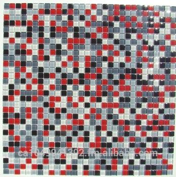 Carrelage mosaique rouge et gris