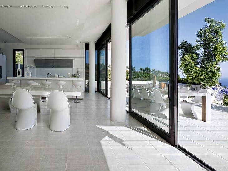 Carrelage blanc terrasse