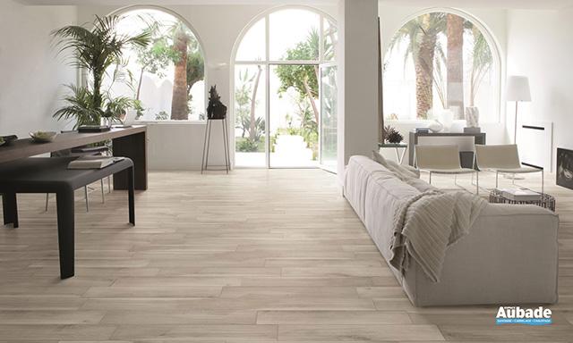 Carrelage aspect bois blanc