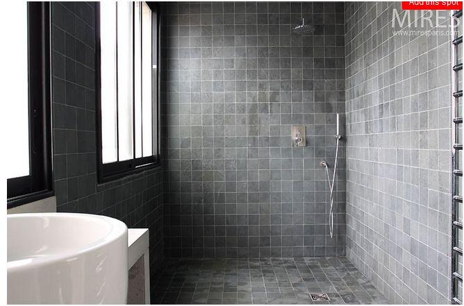 Carrelage imitation ardoise salle de bain - livraison-clenbuterol.fr