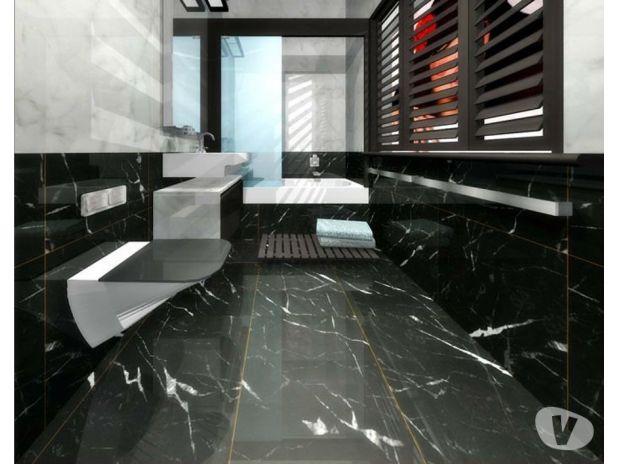 carrelage imitation marbre blanc et noir livraison. Black Bedroom Furniture Sets. Home Design Ideas