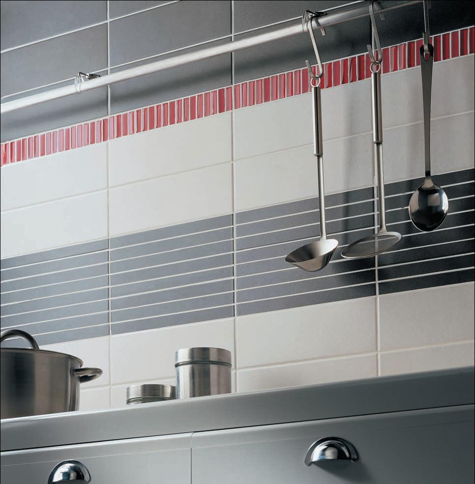 Carrelage cuisine rouge gris livraison - Carrelage mural rouge pour cuisine ...