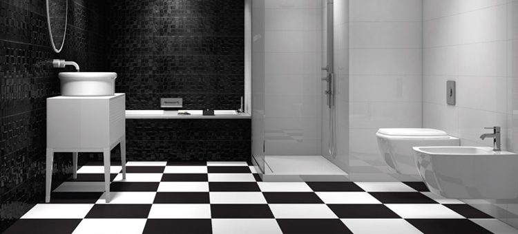 Carrelage noir et blanc photo