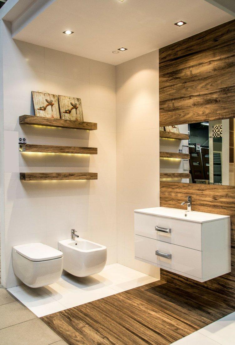 Carrelage imitation bois pour salle de bain