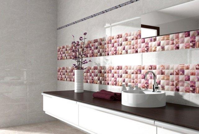 Carrelage salle de bain rose et gris - livraison-clenbuterol.fr