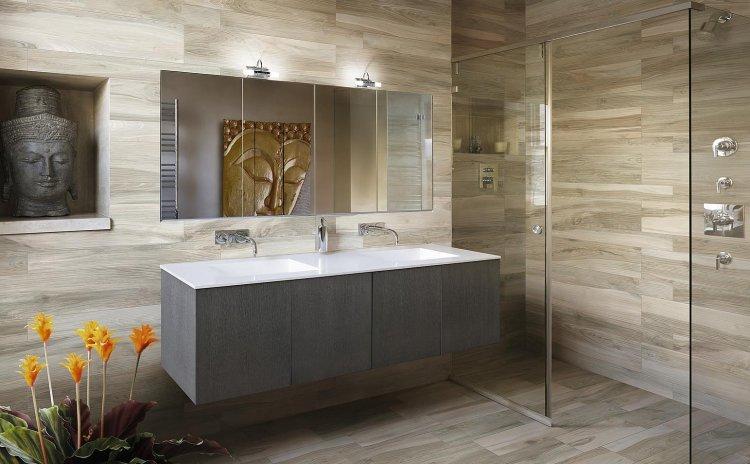 Carrelage bois dans salle de bain - livraison-clenbuterol.fr