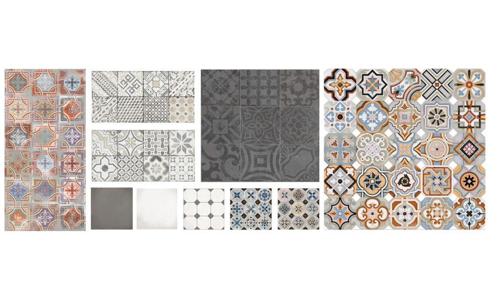 carrelage adhesif imitation carreaux de ciment livraison. Black Bedroom Furniture Sets. Home Design Ideas