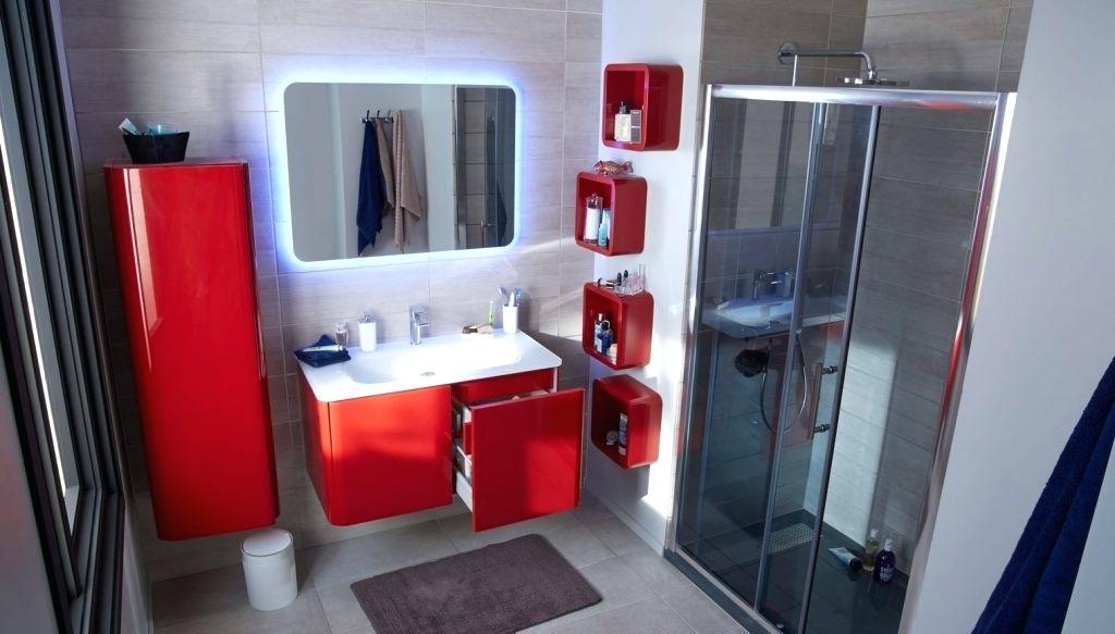 Carrelage rouge et blanc pour salle de bain - livraison-clenbuterol.fr