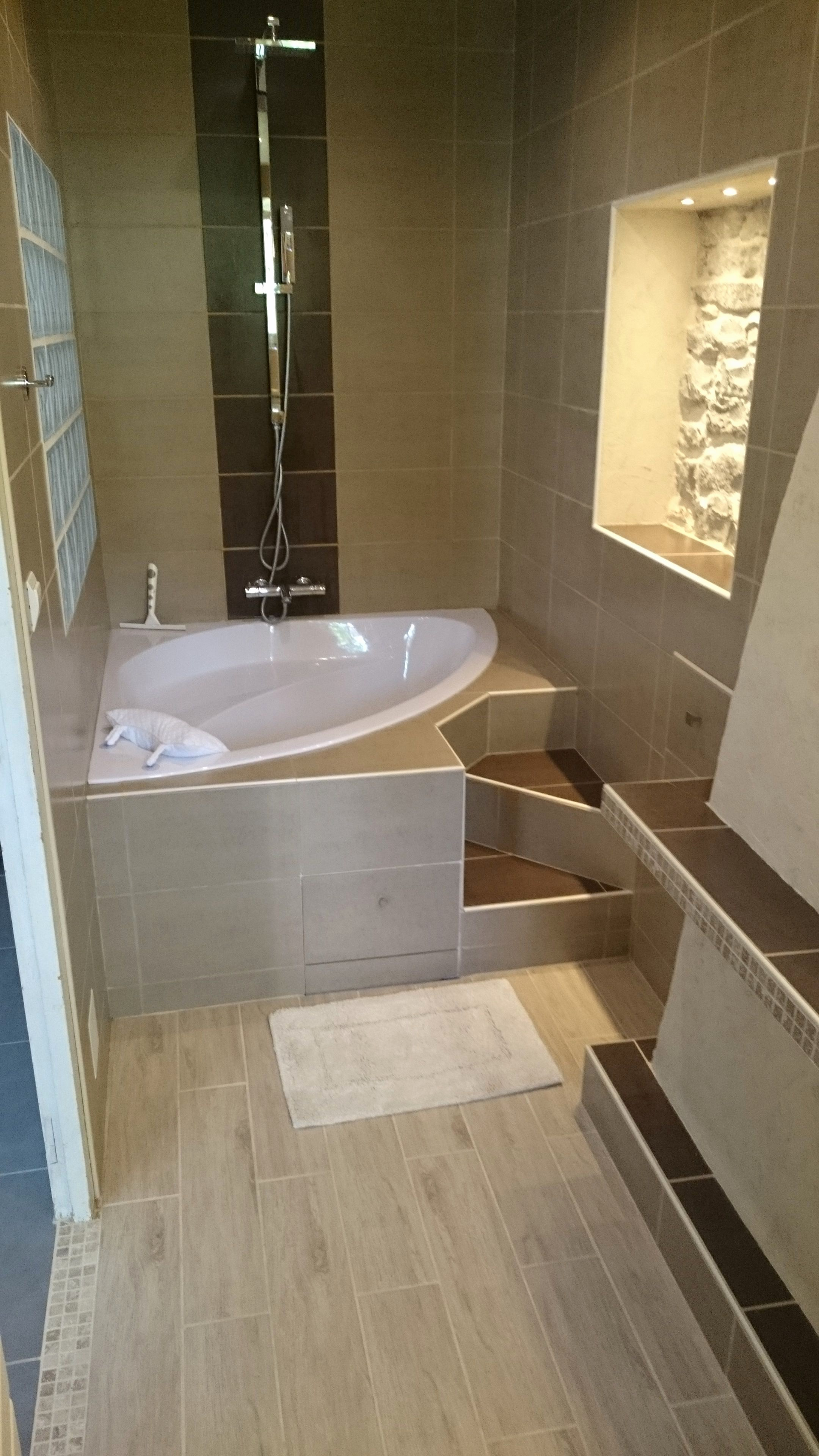 Peinture carrelage blanc salle de bain