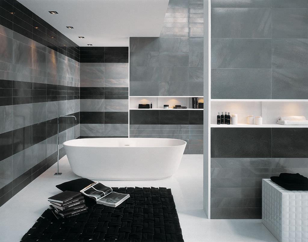 Carrelage noir et blanc pour salle de bain - livraison-clenbuterol.fr