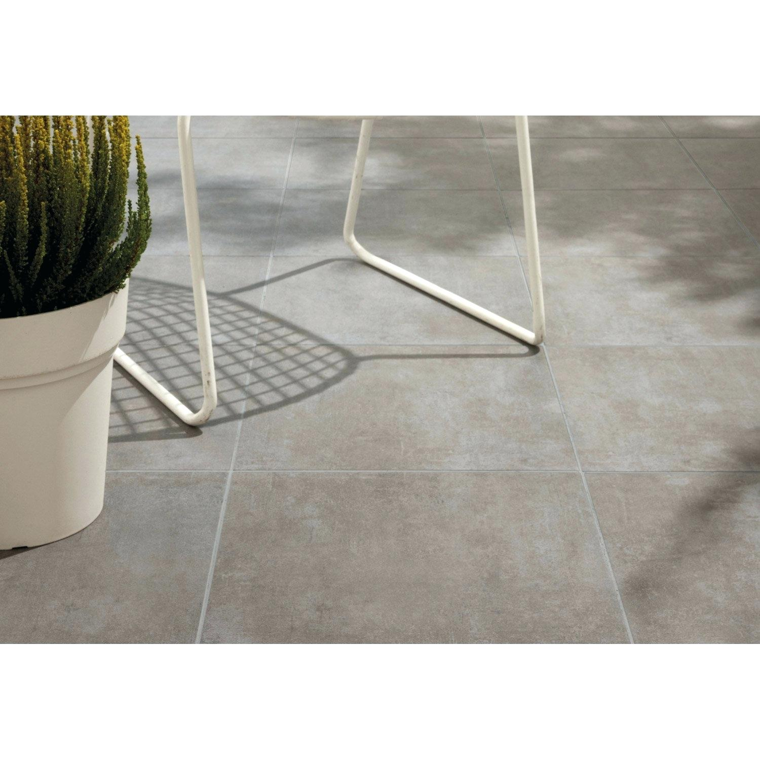 Carrelage anthracite rectangulaire