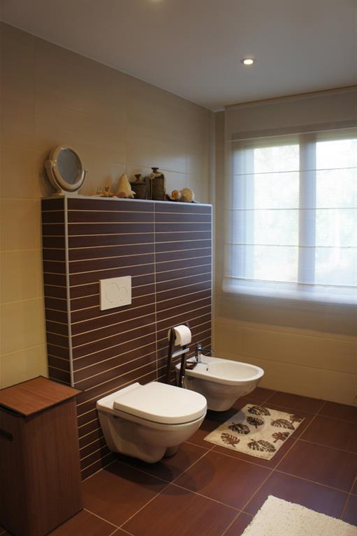Carrelage wc brun