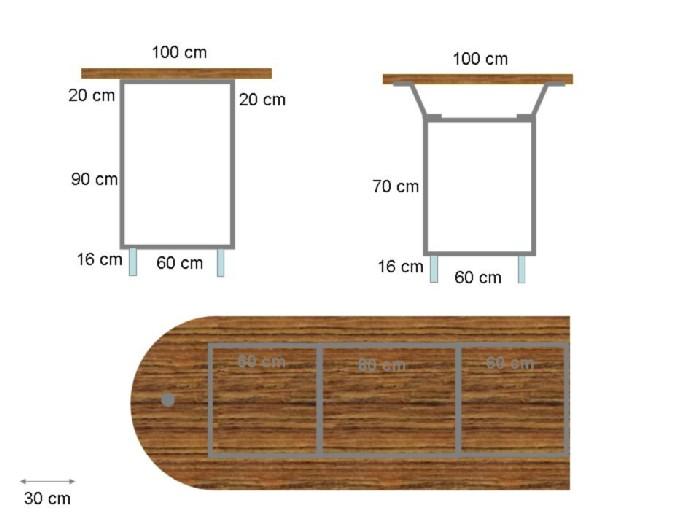 plan de travail pour bar exterieur livraison. Black Bedroom Furniture Sets. Home Design Ideas