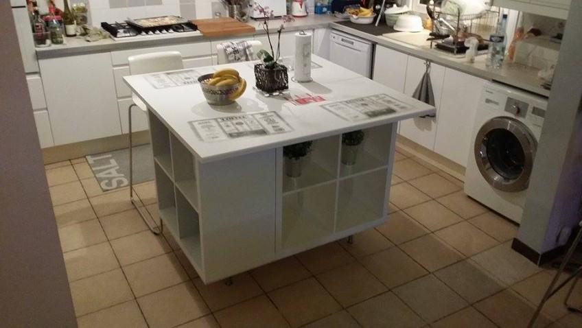 plan de travail pour ilot central de cuisine livraison. Black Bedroom Furniture Sets. Home Design Ideas
