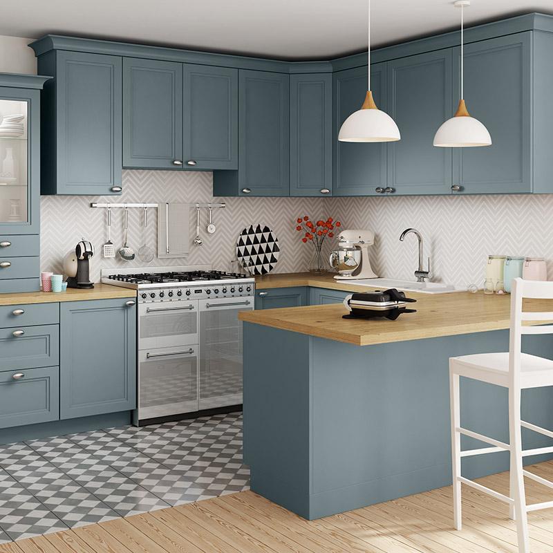Plan de travail cuisine bleu livraison - Renover plan de travail cuisine carrele ...