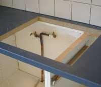 Poser un plan de travail sur un meuble sous evier livraison - Meuble sous evier a poser ...