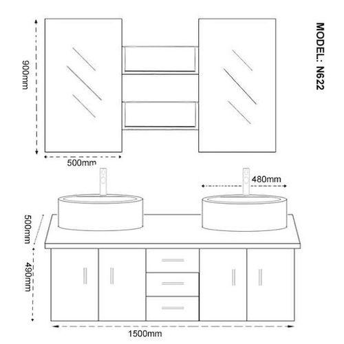 Hauteur Plan De Travail Salle De Bain Avec Vasque A Poser