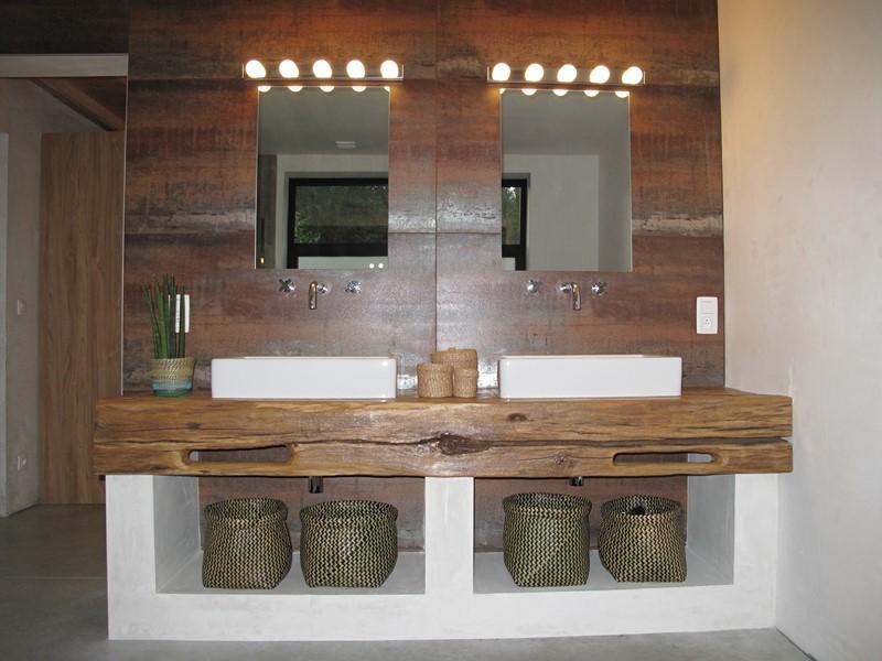 Plan de travail bois pour salle de bain - livraison-clenbuterol.fr