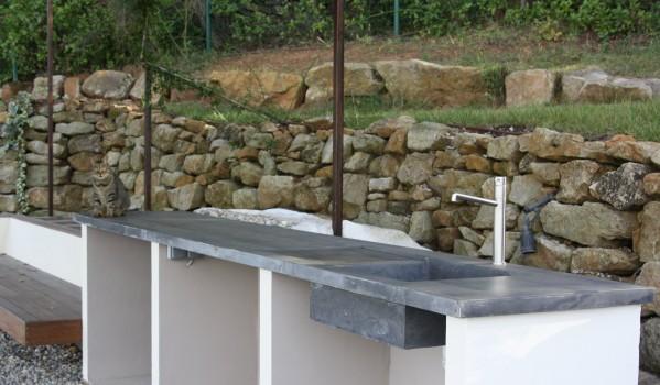 Fabriquer plan de travail exterieur beton