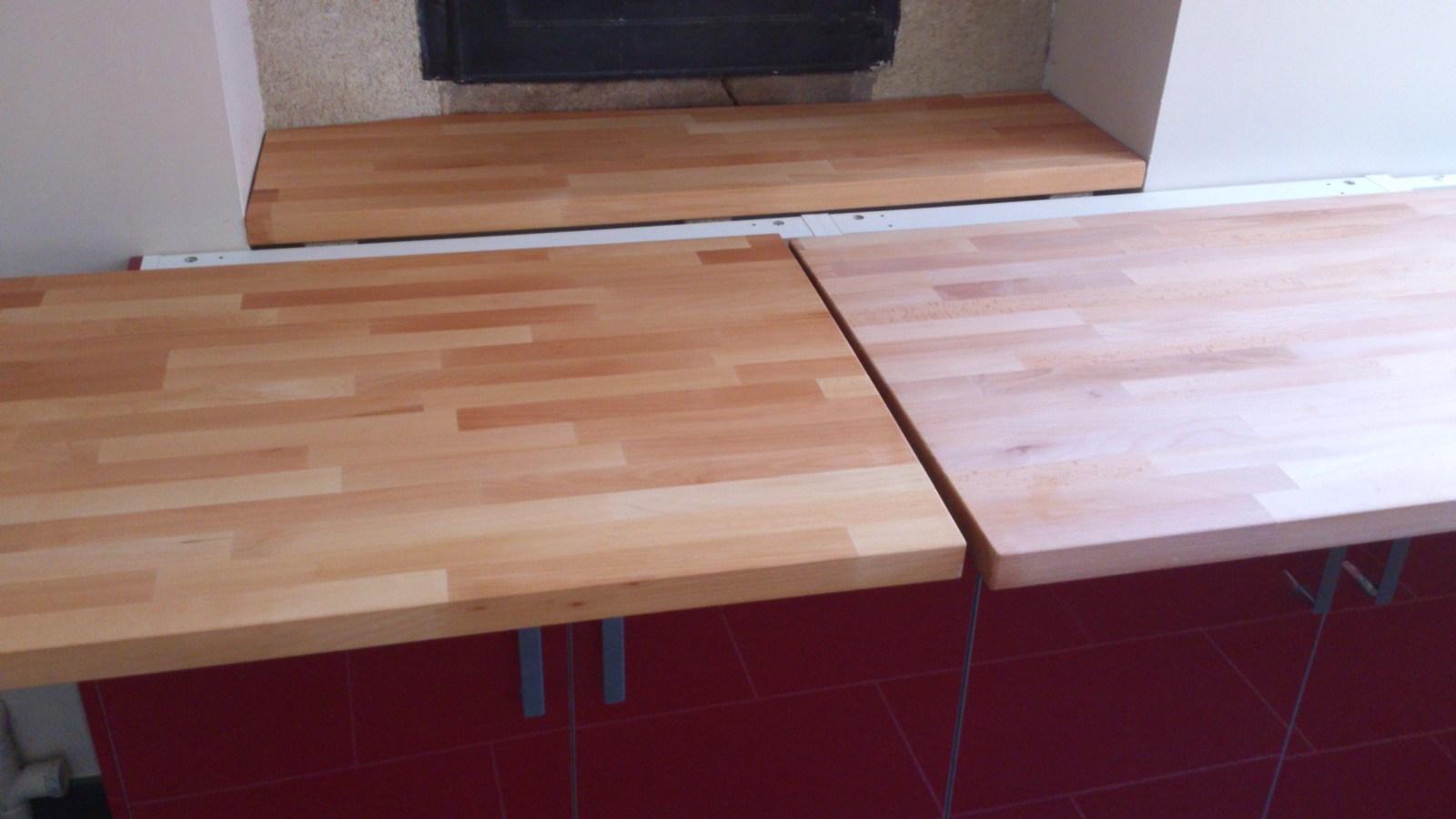finition plan de travail en bois livraison. Black Bedroom Furniture Sets. Home Design Ideas