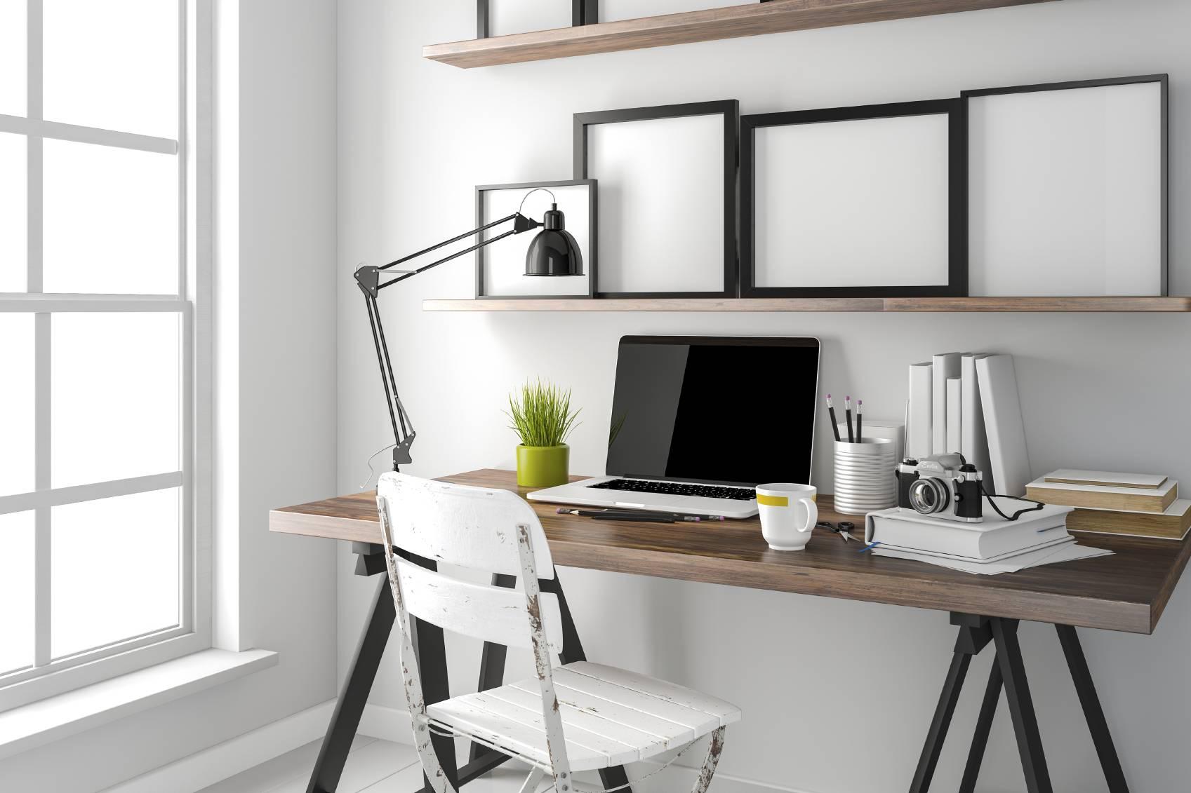 fabriquer son bureau avec plan de travail livraison. Black Bedroom Furniture Sets. Home Design Ideas