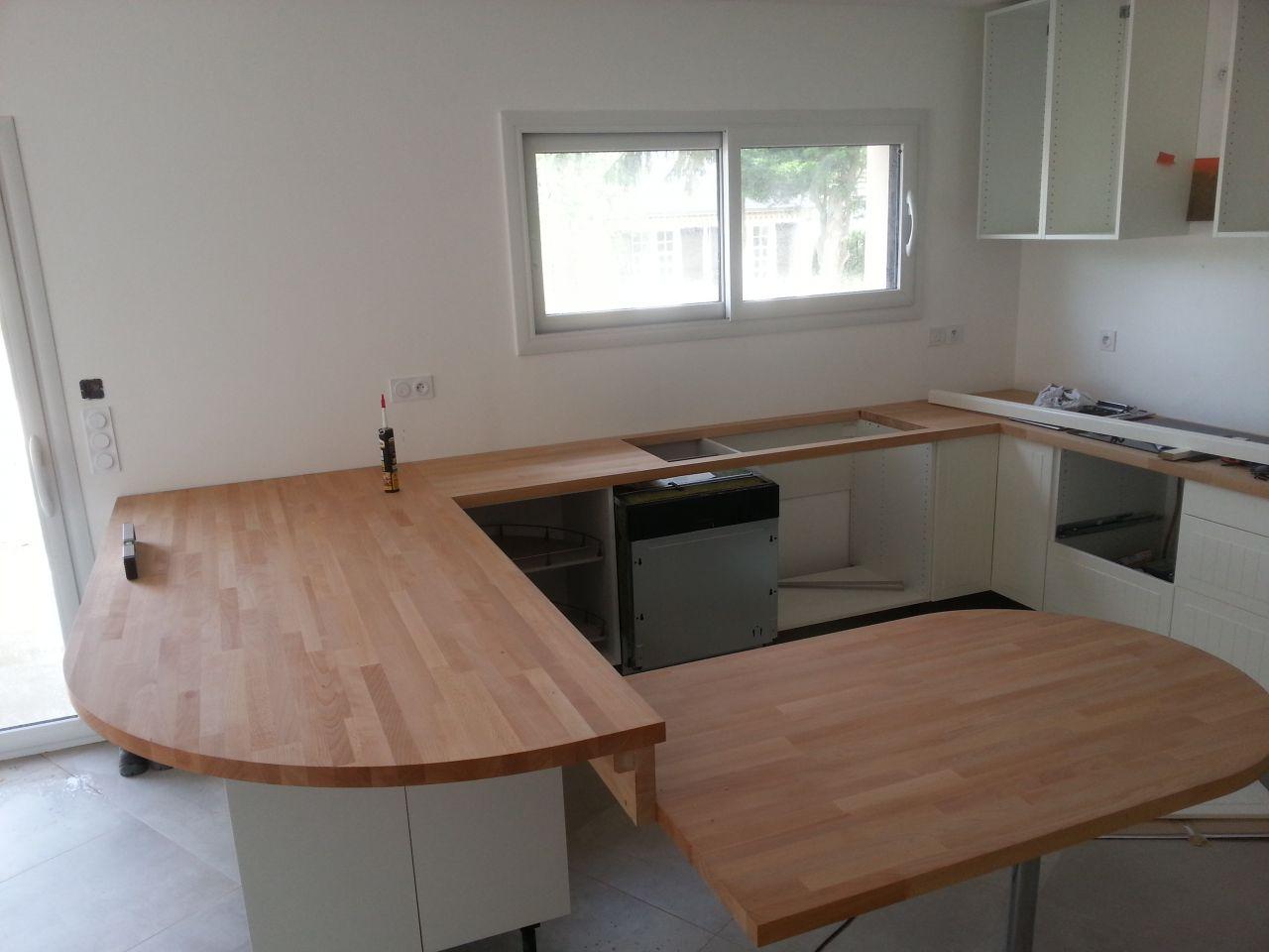 decoupe plan de travail en u livraison. Black Bedroom Furniture Sets. Home Design Ideas