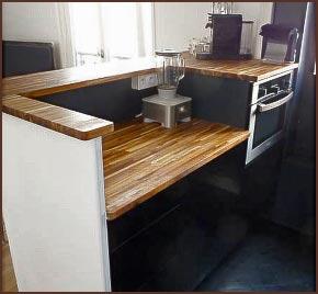 faire un plan de travail bois livraison. Black Bedroom Furniture Sets. Home Design Ideas