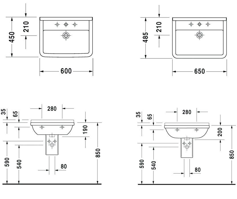 dimension plan de travail lavabo livraison. Black Bedroom Furniture Sets. Home Design Ideas