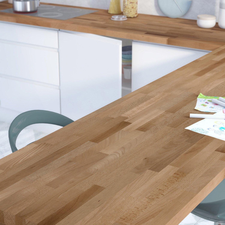 Leroy merlin plan de travail sur mesure bois