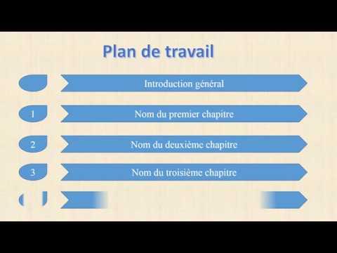 Exemple de plan de travail d'un projet