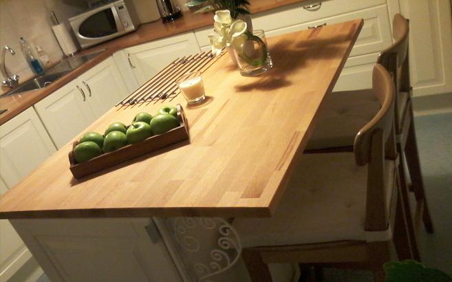 Plan de travail ilot central cuisine sur mesure livraison - Plan travail cuisine sur mesure ...