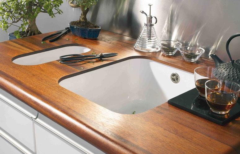 Plan de travail cuisine bois stratifié