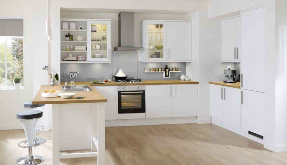 Meuble cuisine avec plan de travail bois livraison - Meuble avec plan de travail cuisine ...