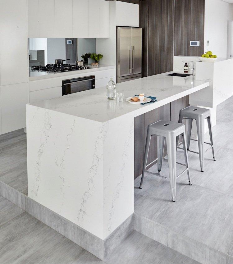 Plan de travail ceramique imitation marbre livraison - Plan de travail cuisine marbre ...