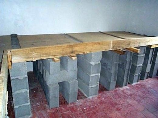 Plan de travail extérieur en bois