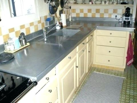 recouvrir plan de travail en zinc livraison. Black Bedroom Furniture Sets. Home Design Ideas
