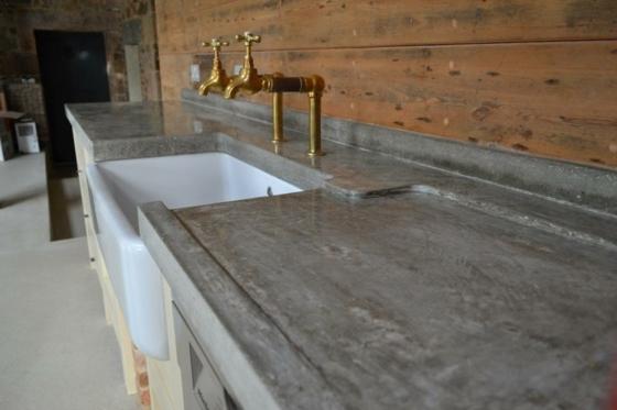 Plan de travail cuisine beton brut