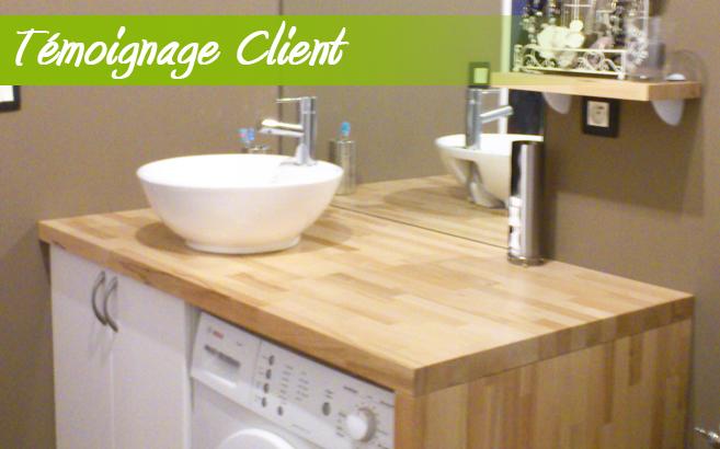 salle de bain avec plan de travail en bois livraison. Black Bedroom Furniture Sets. Home Design Ideas