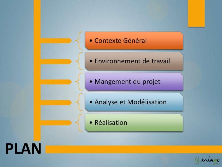 Plan de travail pour un projet de fin d'étude