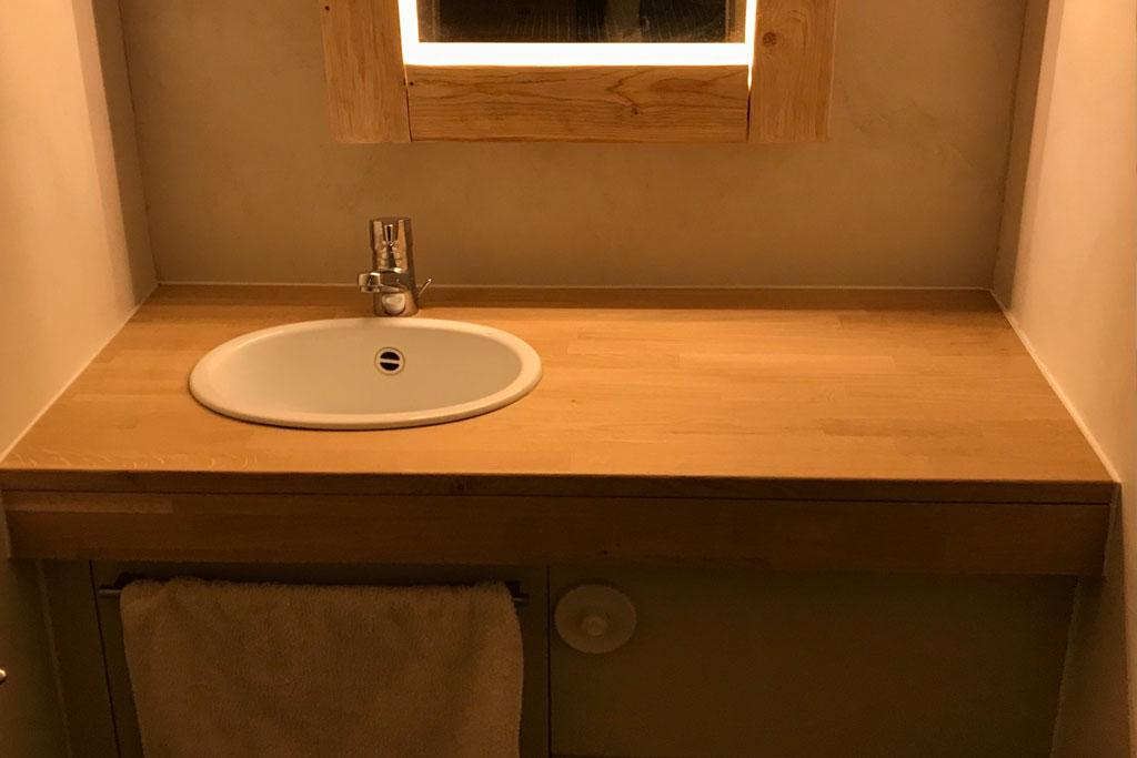 Plan de travail en bois pour salle de bain - livraison-clenbuterol.fr