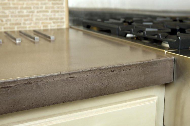 Plan de travail en beton resine