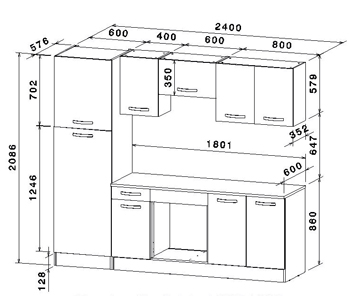 Dimension plan de travail pour cuisine livraison - Hauteur plan de cuisine ...